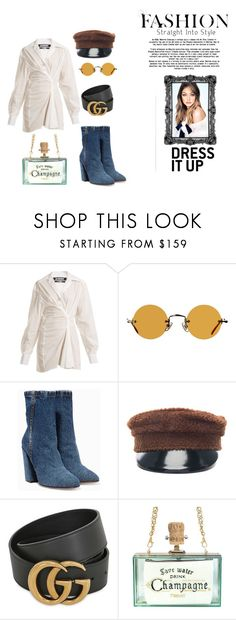 """Untitled #31"" by krnas on Polyvore featuring Jacquemus, Hakusan, Dries Van Noten, Ruslan Baginskiy and Gucci"