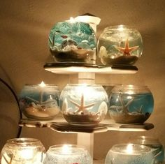 New Seashore Scent 16 OZ Ocean Gel Candles by CandeesCandles