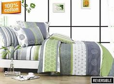 DEXTER-Double-Queen-King-Size-Bed-Quilt-Doona-Duvet-Cover-Sheet-Set-Eurocase-New