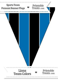Lions Colors Pennant Banner Flag from PrintableTreats.com