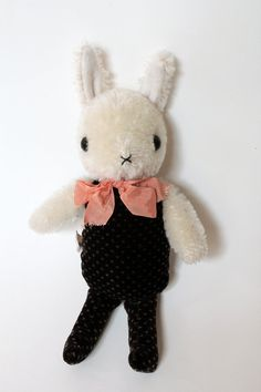 rabbit friend with jointed head by foxandowl on Etsy