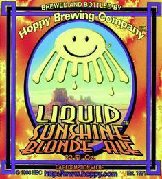 Liquid Sunshine Blonde Ale Hoppy Brewing, Blonde Ale, Snack Recipes, Snacks, Pop Tarts, Cereal, Sunshine, Snack Mix Recipes, Appetizer Recipes