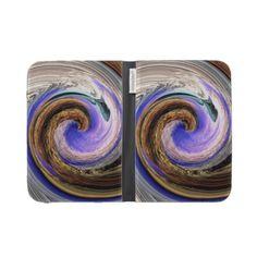 Purple and Orange Wave Kindle Case