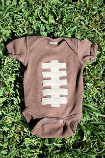 Football onsies-- Don't Spike the Baby!