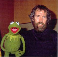 Jim Henson e Kermit ( No Brasil ele se chama Caco)