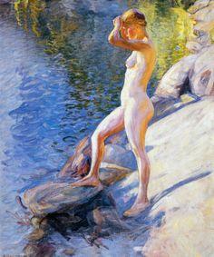 Pekka Halonen, Uimaan Lähdössä, 1910, The Life and Art of Pekka Halonen - http://www.alternativefinland.com/art-pekka-halonen/