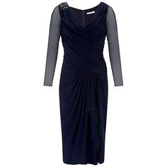 Buy Gina Bacconi Jersey Beaded Dress, Spring Navy Online at johnlewis.com