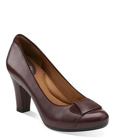 Another great find on #zulily! Burgundy Society Disc Leather Pump by Clarks #zulilyfinds