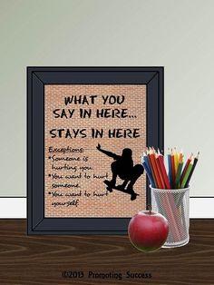 School Counselor - Guidance Counselor - Counseling - Teacher Classroom - Teacher Sign - Gifts for Teacher- Teacher Gift - Classroom Decor