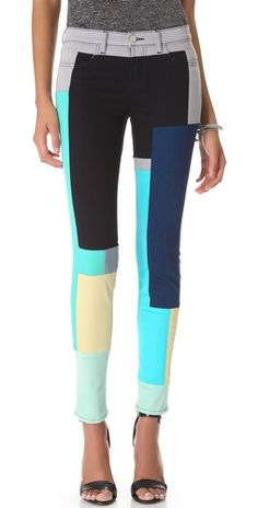 so cool!! color blocked jeans from j brand