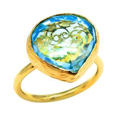 Ella Poe - KRMA - Mughal Filligree Ring - Hidden Filligree Ring custom set with Blue Topaz in 18 Karat Gold. Browse the collection today at krma.com!  #ellapoe #krma #hellokrma #spring #fashion #springfashion #springseason #2013 #new #trend #trendsetter #fashionista #musthave #loveit #love #needit #jewelry #jotd #potd #designer #gold #diamond #diamonds #necklace #bracelet #ring #earrings #armswag #armparty #armcandy #wishlist #zodiac #constellations Mughal Jewelry, Zodiac Constellations, Arm Party, Ring Earrings, Blue Topaz, Spring Fashion, Diamonds, Bracelet, Antiques