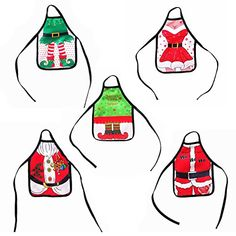 5pcs Mini Christmas Apron Beer Wine Bottle Cover Bag Set Xmas Dinner Table Decors Home Kitchen Cooking Party Holiday Decorations New Year Festival Celebrating #Mini #Christmas #Apron #Beer #Wine #Bottle #Cover #Xmas #Dinner #Table #Decors #Home #Kitchen #Cooking #Party #Holiday #Decorations #Year #Festival #Celebrating