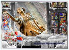 Statue de Dubreucq à la Collégiale Sainte-Waudru, Gregory Mathelot, Happy Holidays, Louisette