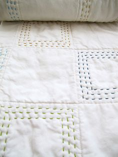 Ideas Big Stitch Hand Quilting Patchwork For 2019 Hand Quilting Patterns, Quilting Tips, Machine Quilting, Quilting Projects, Sewing Projects, Tatting Patterns, Art Quilting, Embroidery Patterns, Quilt Baby