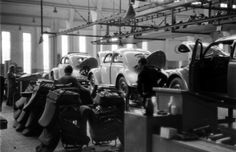 Scene at Volkswagens main plant, Wolfsburg, Germany, July 1951.
