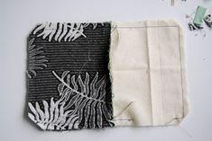Sy lynlås i en taske eller pung, Guide til isyning af lynlås og foer Blackwork, Towel, Quilts, Womens Fashion, Diy, Bags, Gingham Quilt, Bricolage, Build Your Own