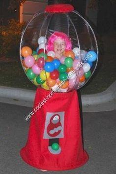Homemade Gumball Machine Halloween Costume Idea