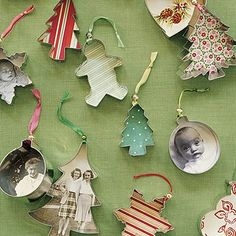 Love this idea to upcycle old cookie cutters into tree ornaments.
