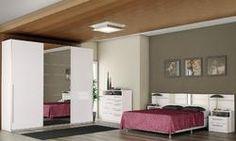 Quarto Casal Completo com Cabeceira com espelho e criado-mudo, Cômoda e Guarda-roupa com espelho Branco - Kappesberg