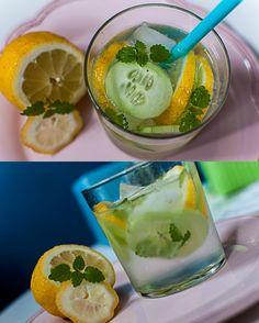 Minz dich frisch: eiskalter Sommerdrink mit Zitrone, Gurke und Minze  * by Deli From The Valley
