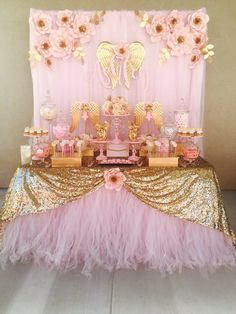 Image gallery – Page 661536632740479754 – Artofit Baptism Party Decorations, Girl Birthday Decorations, Baby Shower Decorations, Baby Girl Shower Themes, Baby Shower Princess, Bday Girl, 1st Birthday Girls, Angel Baby Shower, Dusty Rose Wedding
