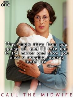 Titter ye not, young ones. Or Chummy will call you a naughty monkey :) ~ Call The Midwife BBC PBS Chummy Call The Midwife, Miranda Hart Quotes, Bbc Drama, Bad Romance, Bbc One, Young Ones, Midwifery, Classic Tv, Best Tv