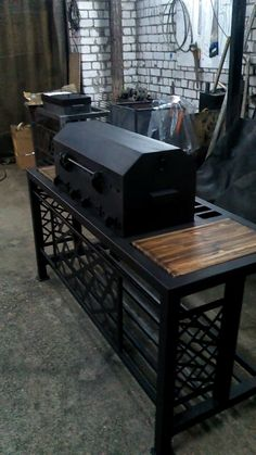 Bbq Grill, Grilling, Welded Furniture, Fire Pit Designs, Santa Maria, Welding, Beams, Restaurant, Metal