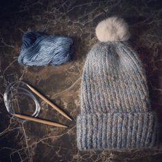 beanie, mohair, wool / czapka wełnianomoherowa