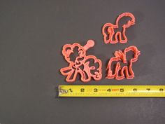 11 best Cookie Cutter images on Pinterest   Cookie cutters  Biscotti     My Little Pony Set of 3 Cookie Cutters Pinkie Pie   Rainbow Dash   Rarity