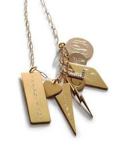 "-4U6J Sarah Chloe  Personalized Joanna Initial Dagger Charm Sophia Script Monogram Disc Charm Eva 1-Letter Ampersand Disc Charm, 1/2"""