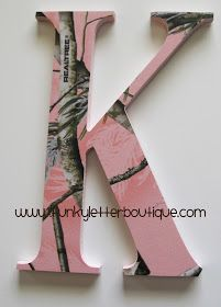 The Funky Letter Boutique: Pink Realtree Camo Letter Giveaway