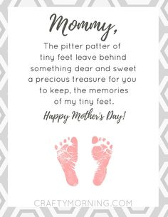 Motherhood Discover Pitter Patter of Tiny Feet Printable Poem - Crafty Morning Free Pitter Patter of Tiny Feet Printable Poem for mom on Mothers Day- Crafty Morning Daddy Poems, Fathers Day Poems, Mother Poems, First Mothers Day Gifts, Mothers Day Crafts For Kids, Mothers Day Quotes, Fathers Day Crafts, Mothers Day Cards, Happy Mothers Day