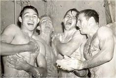 Vintage photographs of gay and lesbian couples and their stories. Vintage Photographs, Vintage Photos, Men In Shower, Male Friendship, Shower Time, Raining Men, Man Photo, Historical Fiction, Back In The Day