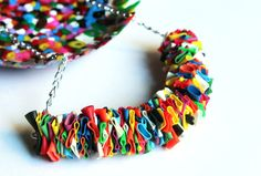MULTICOLORED BALLOONS NECKLACE Silver chain with by Nokike, €25,00