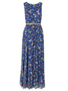 Electra Blue Butterfly Maxi Dress