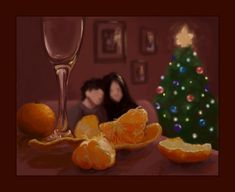 Christmas Snarry by Umino-aka-Morskaya.deviantart.com on @deviantART