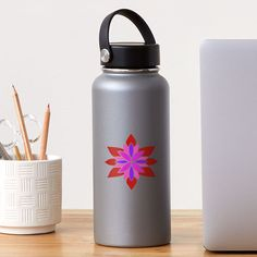 """Lotus Star Design"" Sticker by Pultzar | Redbubble"