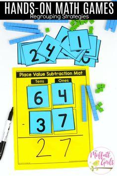 Hands-on math games to teach regrouping addition in second grade MATHEMATIC HISTORY Mathematics is one Math Help, Fun Math, Math 2, Sight Words, Big Kids, Math Addition Games, Math Subtraction, Second Grade Math, Grade 2