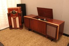 Vintage Mid Century Stereo Console