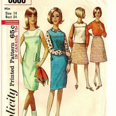 A Collarless, Sleeveless Dress, Jumper or Top, Long Sleeve Blouse & A-Line Skirt Pattern by So Sew Some!
