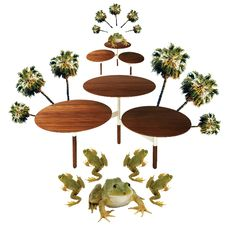 Lilypad party. Toad-ly.     Lily Pad Coffee Table by Blu Dot.