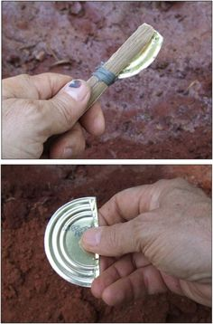 Survival Tools: Uses for a Tin Can. Tutorials on how to make cutting tool. - Survival Tools: Uses for a Tin Can. Tutorials on how to make cutting tool. Survival Gear and Preppi - Survival Life Hacks, Survival Food, Camping Survival, Outdoor Survival, Survival Prepping, Survival Skills, Survival Quotes, Survival Stuff, Emergency Preparedness