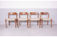Product: Niels Otto Moller no. 75 dining chairs, teak (Niels Otto Møller) | MARIEKKE Vintage Furniture