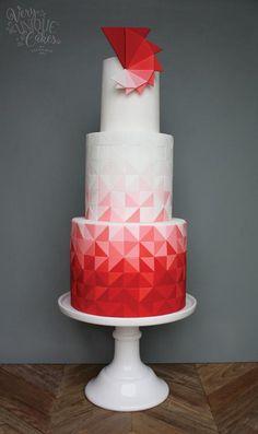 Triad Cake by http://www.veryuniquecakes.com