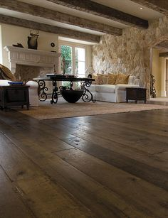 I'm starting to like this french oak stuff .Our custom Aged French Oak floors are extremely popular with interior designers. The unique aging process renders stunning results with the look and patina of genuine antique French oak floors Gite Rural, Hardwood Floor Colors, French Oak, Wide Plank, Great Rooms, My Dream Home, Family Room, Sweet Home, New Homes