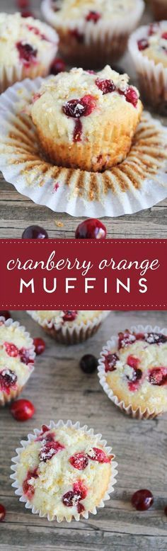 Cranberry orange muffins -these sound perfect for Christmas morning!