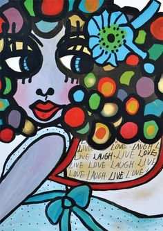 """Plansch """"Live love laugh"""" A3 via karolina konst. Click on the image to see more!"""