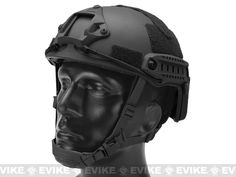 Emerson FAST Type Tactical Airsoft Helmet (MICH Ballistic Type / Advanced / Black)