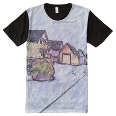 Shop Many houses drawing All-Over-Print T-Shirt created by ZierNorShirt. Personalize it with photos & text or purchase as is! Types Of T Shirts, Cool T Shirts, T Shirt Photo, House Drawing, Printed Shirts, Shirt Style, Drawings, Houses, Mens Tops