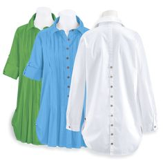 Pintuck Tunic - Women's Clothing – Casual, Comfortable & Colorful Styles – Plus Sizes